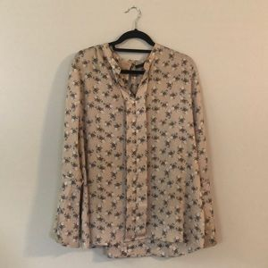 Banana Republic Floral Print Blouse
